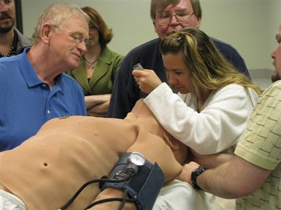 training exercise on human patient simulator